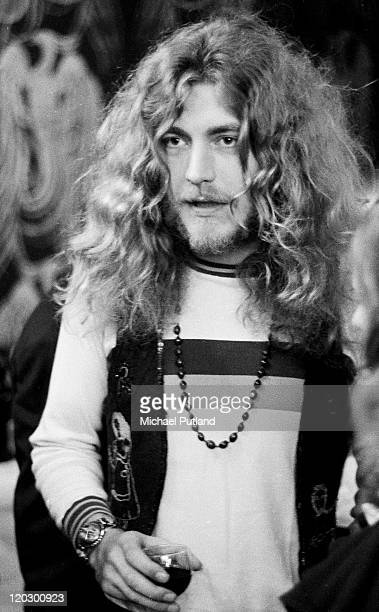 Robert Plant of Led Zeppelin attends music magazine Disc and Music Echo's Valentine Awards London 12th February 1971