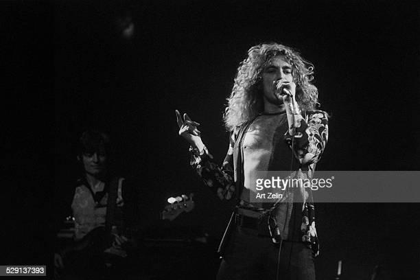 Robert Plant of Led Zeppelin in performance circa 1970 New York