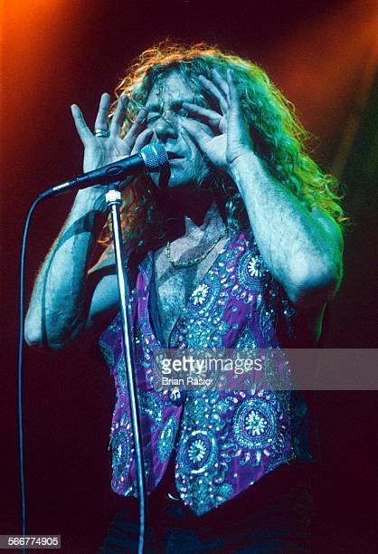 Robert Plant Performing At Brixton Academy London Britain 1993 Robert Plant