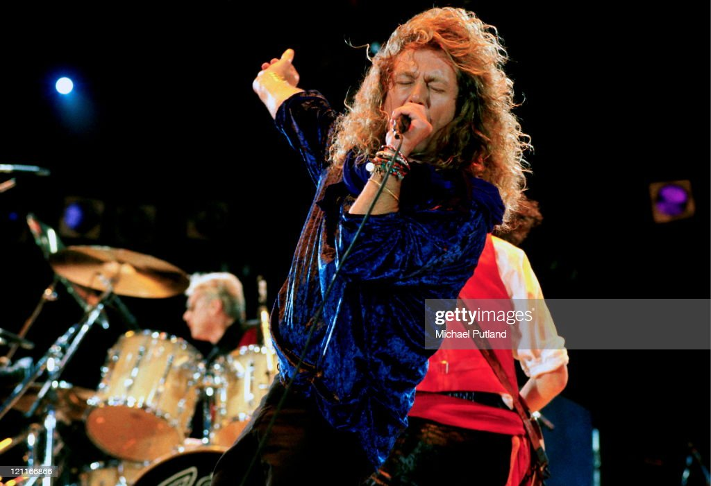 Robert Plant performing with Queen at the Freddie Mercury Tribute Concert for AIDS Awareness at Wembley Stadium, London, April 20th 1992.