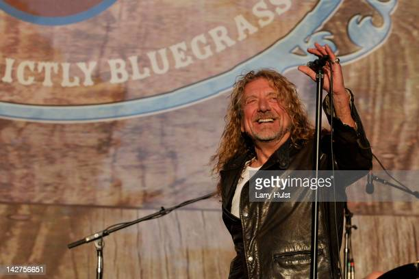 Robert Plant performing with 'The Band of Joy' at the Hardly Strictly Bluegrass festival in Golden Gate Park in San lFrancisco on September 30 2011