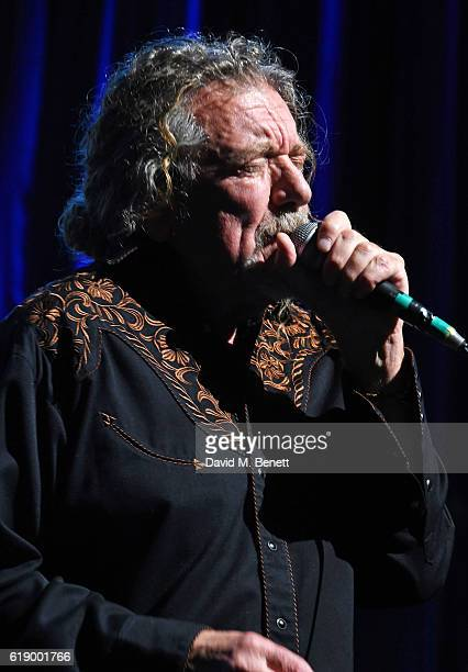 Robert Plant performs at Bill Wyman's 80th Birthday Gala as part of BluesFest London at Indigo at The O2 Arena on October 28 2016 in London England