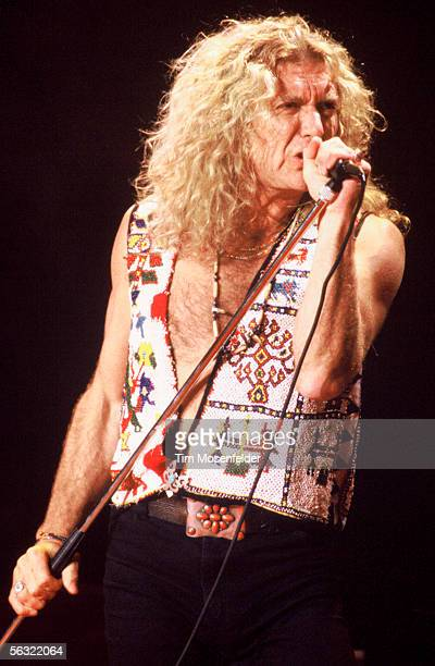 Robert Plant performs at Shoreline Amphitheatre on October 10 1993 in Mountain View California