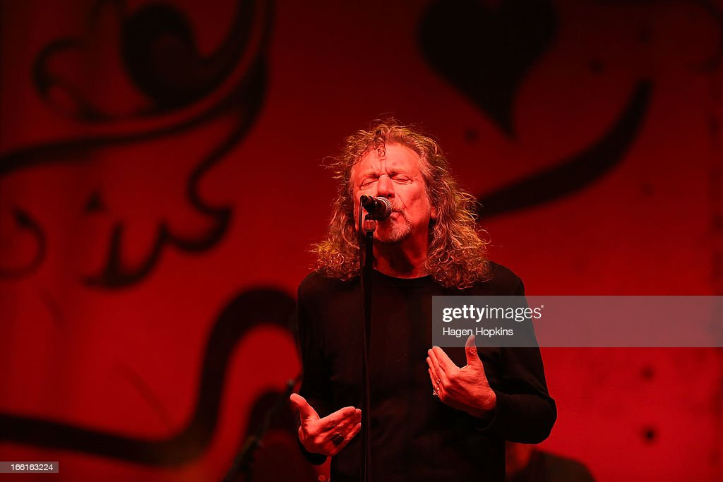 Robert Plant performs live on stage at TSB Arena on April 9, 2013 in Wellington, New Zealand.
