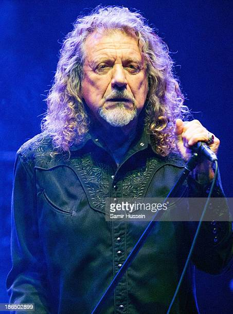 Robert Plant performs live on stage during day 3 of Bluesfest 2013 at The Royal Albert Hall on October 31 2013 in London England