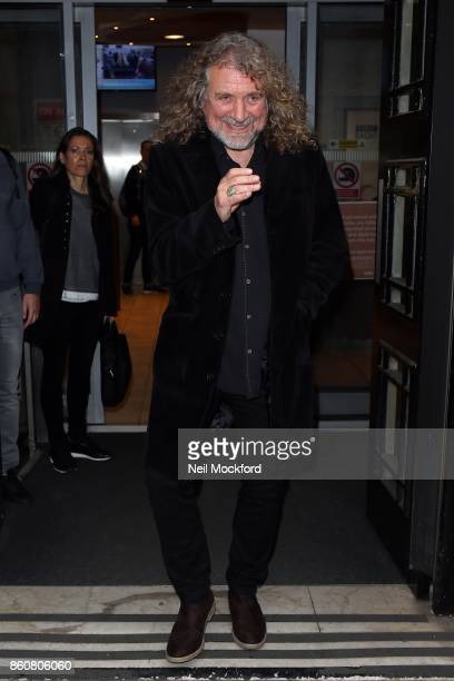 Robert Plant seen at BBC Radio 2 on October 13 2017 in London England