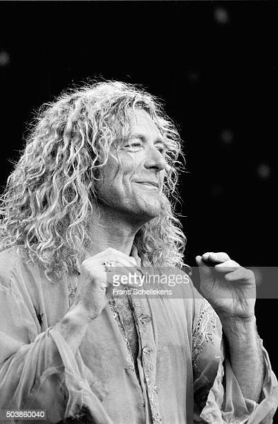 Robert Plant vocals performs at Parkpop on June 27th 1993 in the Hague the Netherlands