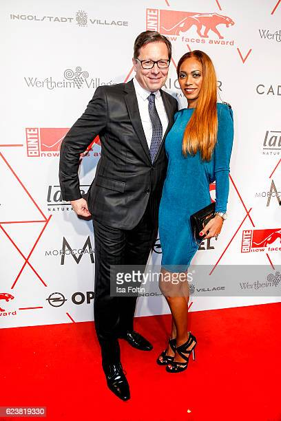 Robert Poelzer chief editor Bunte magazine and his wife Vivien Poelzer attend New Faces Award Style on November 16 2016 in Berlin Germany