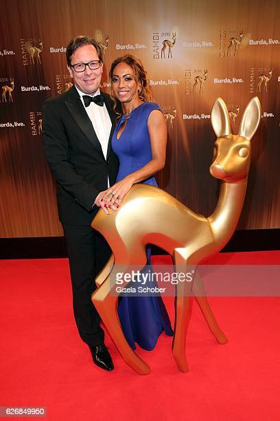 Robert Poelzer Editor in chief of Bunte and his wife Vivian Poelzer during the Bambi Awards 2016 arrivals at Stage Theater on November 17 2016 in...