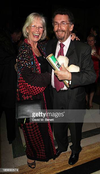 Robert Powell and Babs Powell attend an after party celebrating the press night performance of From Here To Eternity at The Freemason's Hall on...