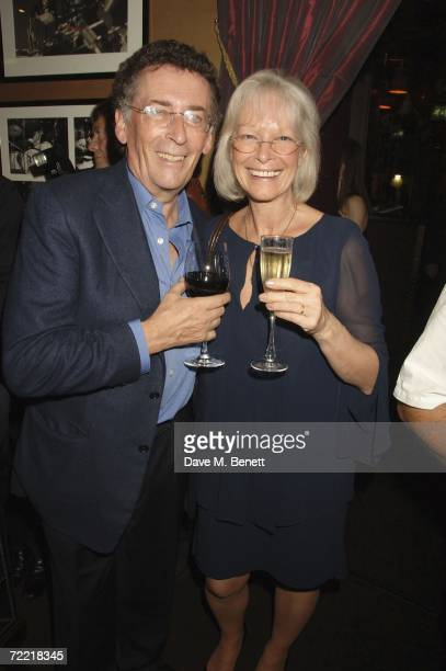 Robert Powell and Babs Powell attend Bill Wyman's 70th birthday party at Ronnie Scotts Jazz club on October 18 2006 in London England