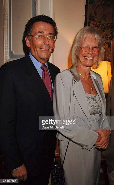 Robert Powell and wife Babs attend a party celebrating Antonio Carluccio receiving an OBE at The Italian Embassy on January 31 2007 in London England