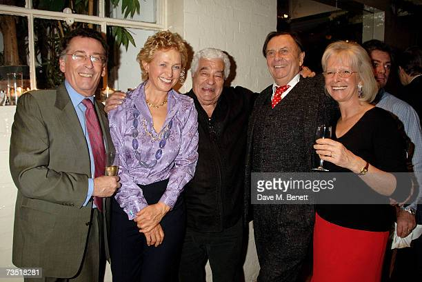 Robert Powell Lizzie Spender Antonio Carluccio Barry Humphries and Babs Powell attend the closing party of The Neal Street Restaurant hosted by the...