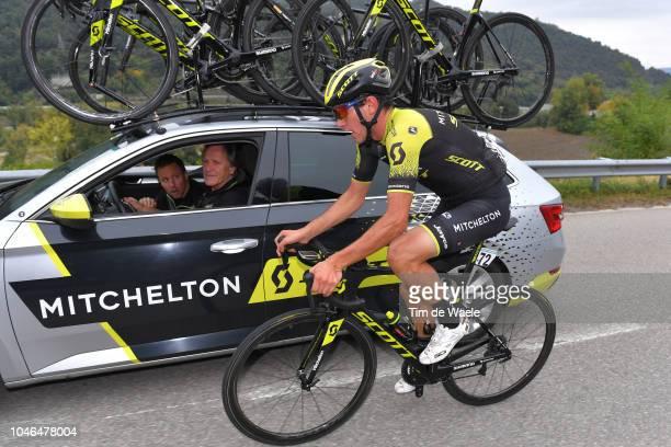 Robert Power of Australia and Team MitcheltonScott / David McPartland of Australia Sports Director Team MitcheltonScott of Australia / Staff / Car /...