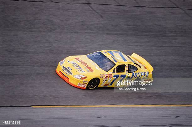 Robert Pressley drives his car during practice for the Daytona 500 at the Daytona International Speedway on February 17 2001 in Daytona Beach Florida