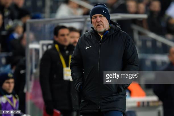 Robert Prosinecki coach of Istikbal Mobilya Kayserispor during the Ziraat Turkiye Kupasi match between Fenerbahce AS and Istikbal Mobilya Kayserispor...