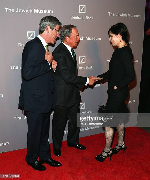 Robert Pruzan Michael Bloomberg and Claudia Gould attend the Jewish Museum's Purim Ball 2014 at Park Avenue Armory on February 26 2014 in New York...