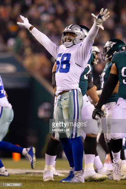 Robert Quinn of the Dallas Cowboys reacts against the Philadelphia Eagles at Lincoln Financial Field on December 22 2019 in Philadelphia Pennsylvania
