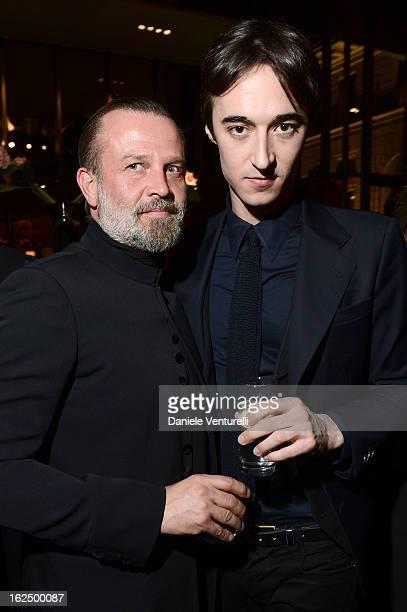 Robert Rabensteiner and Daniele Cavalli attend 'Bulgari And Purple Magazine' party as part of Milan Fahion Week Womenswear F/W 2013 on February 23...