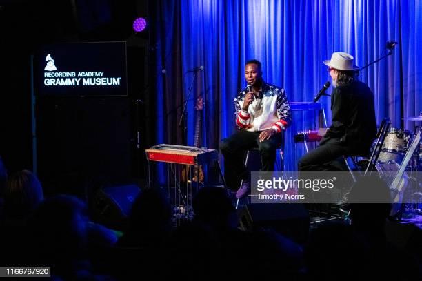 Robert Randolph and Scott Goldman speak during The Drop Robert Randolph at GRAMMY Museum on August 07 2019 in Los Angeles California