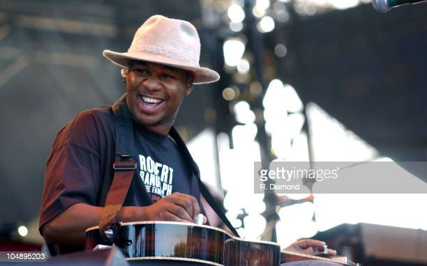 Robert Randolph during Voodoo Music Experience 2003 Day Three at City Park in New Orleans Louisiana United States