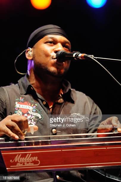 Robert Randolph performs during the 2012 Downtown Dayton Revival Music Festival on September 9 2012 in Dayton Ohio
