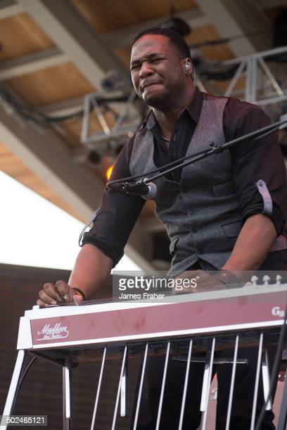 Robert Randolph performs on stage at the Blues on the Fox Festival on June 15 2014 in Aurora Illinois United States