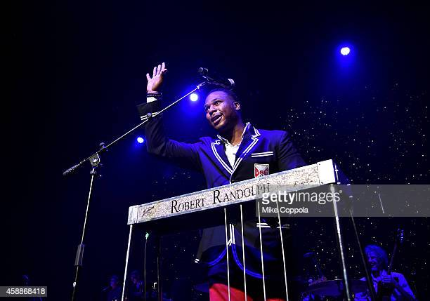 Robert Randolph performs onstage at One More For The Fans Celebrating the Songs Music of Lynyrd Skynyrd at The Fox Theatre on November 12 2014 in...