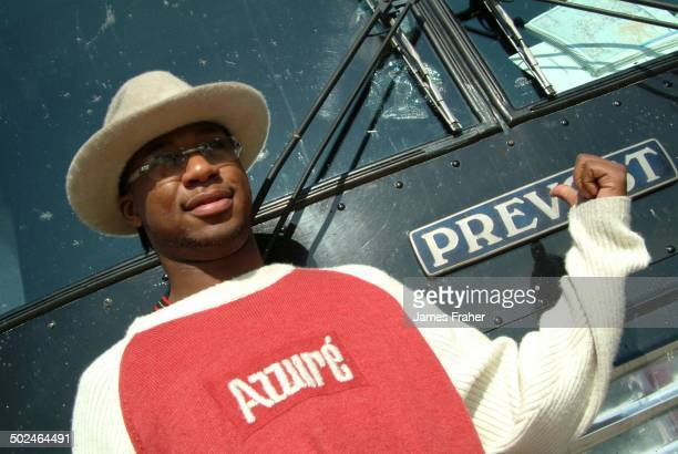 Robert Randolph poses for a portrait at Northwestern University in 2003 in Evanston Illinois United States