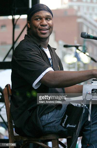 Robert Randolph the Family Band during Robert Randolph the Family Band Perform at Thursday in the Square June 24 2004 at Lafayette Square in Buffalo...