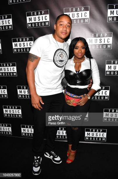 """Robert """"Red"""" Rushing and Toya Wright attend Trap Music Museum VIP Preview at Trap Music Museum on September 29, 2018 in Atlanta, Georgia."""