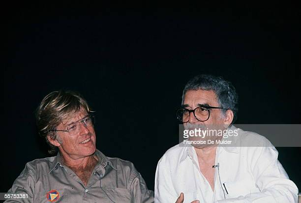 Robert Redford American actor and Gabriel Garcia Marquez Colombian writer Havana 1988 FDM4311