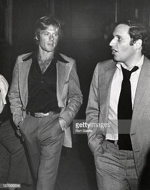 Robert Redford and Bob Woodward during Simon Schuster Book Party for All the President's Men June 3 1974 at Washington Post Newspaper Office in...