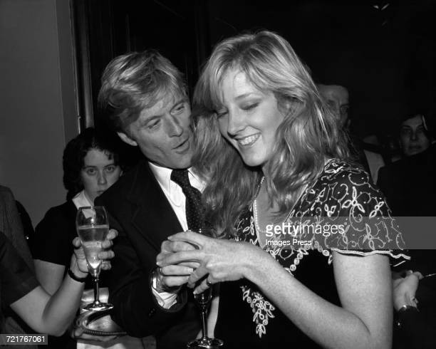 Robert Redford and daughter Shauna circa 1983 in New York City