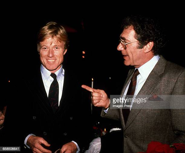 Robert Redford and Director Sydney Pollack attend the New York Premiere of 'Out of Africa' circa 1985 in New York City