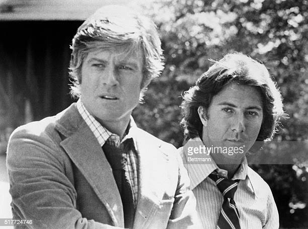 Robert Redford and Dustin Hoffman as Woodward and Bernstein the reporters who broke the Watergate scandal in All the President's Men