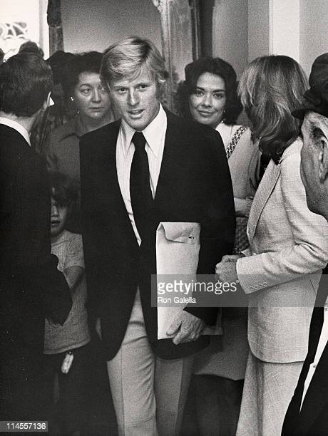 Robert Redford and guests during Mary Lasker's Cocktail Party for Wayne Owens May 15 1974 at Harrison's Residence in Washington DC Washington DC...