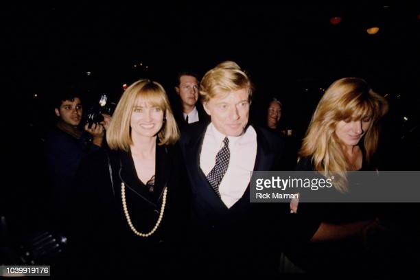Robert Redford and his daughters Shauna Redford and Amy Redford.