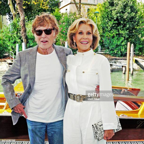 Robert Redford and Jane Fonda arrive at the 'Our Souls At Night' photocall during the 74th Venice Film Festival at Sala Casino on September 1 2017 in...