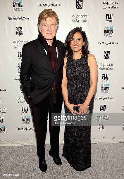 Robert Redford and Joana Vicente attend the 25th IFP Gotham Independent Film Awards cosponsored by FIJI Water at Cipriani Wall Street on November 30...