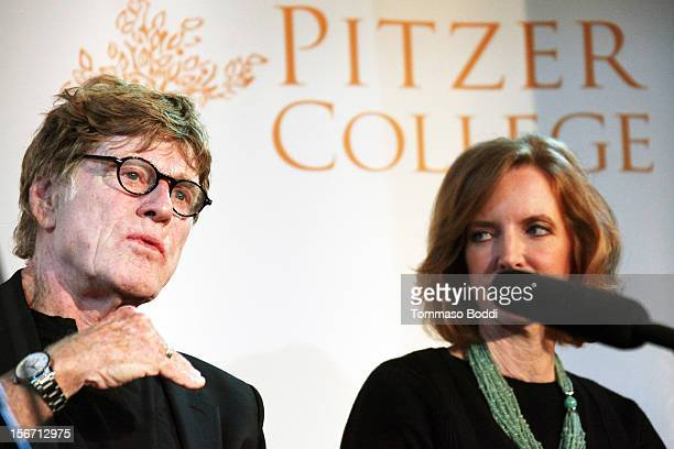 Robert Redford and Laura Skandera Trombley attend the Pitzer College Names New Conservancy honoring Robert Redford held at the Los Angeles Press Club...