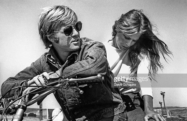 Robert Redford and Lauren Hutton in Little Fauss and Big Halsy