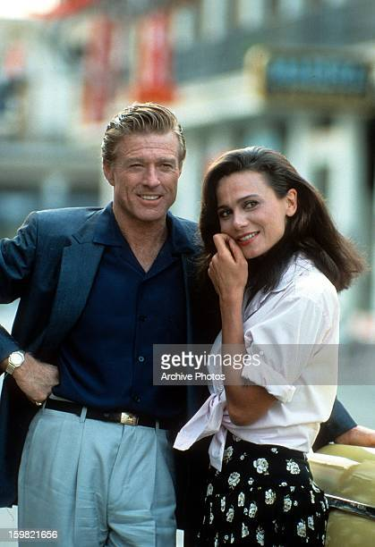 Robert Redford and Lena Olin in a scene from the film 'Havana' 1990