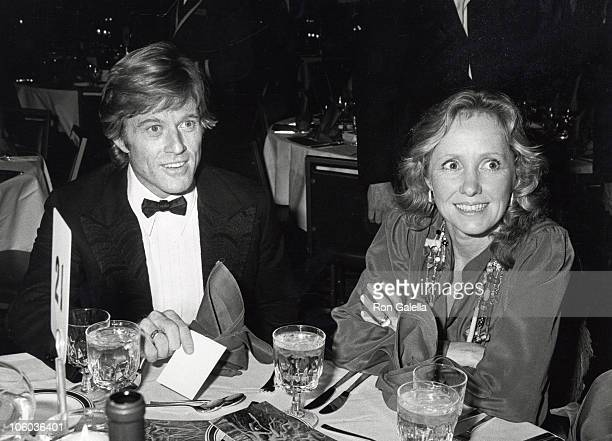 Robert Redford and Lola Redford during A Future With Alternatives Symposium May 5 1978 at St John the Devine Cathedral in New York City New York...