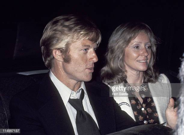 Robert Redford and Lola Redford during Mary Lasker's Cocktail Party for Wayne Owens May 15 1974 at Harrison's Residence in Washington DC Washington...