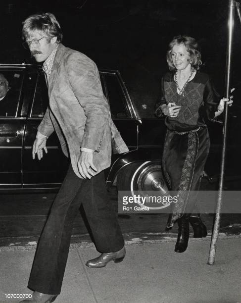 Robert Redford and Lola Redford during Robert Redford Sighted outside his New York City Apartment October 28 1977 at Redford's New York City...