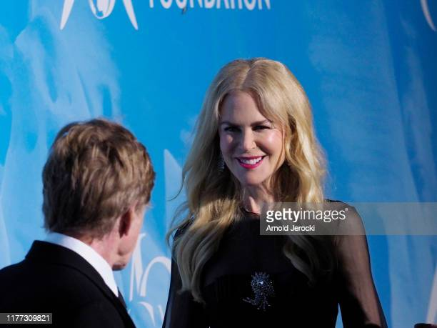 Robert Redford and Nicole Kidman attend the Gala for the Global Ocean hosted by HSH Prince Albert II of Monaco at Opera of MonteCarlo on September 26...