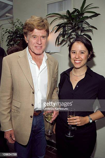 Robert Redford and Patricia Riggen during Sundance at the MOMA 2005 Sundance Film Festival Shorts at Gattopardo in New York City New York United...
