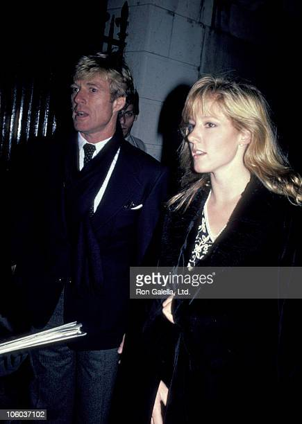 Robert Redford and Shauna Redford during Opening of Highlight Exhibit November 17 1983 at International Center of Photography in New York City New...