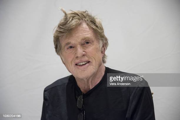 Robert Redford at The Old Man the Gun Press Conference at the Fairmont Royal York Hotel on September 9 2018 in Toronto Canada